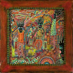 New Orleans artist Perry Morgan, shown at Outsider Art at Beverly Kaye Gallery