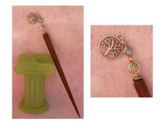 Silver Celtic Tree of life Charm Beaded Wooden Hair Stick   http://cgi.ebay.com/ws/eBayISAPI.dll?ViewItem=150960373274