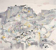 Wu Guanzhong's Plateau   Chinese Painting   China Online Museum