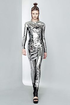 Future Girl, Futuristic Clothing, Future Fashion, Silver, Futuristic Style…