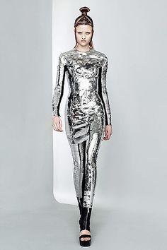 Future Girl, Futuristic Clothing, Future Fashion, Silver, Futuristic Style…