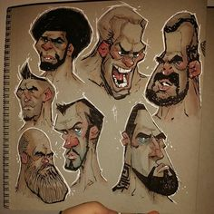 WEBSTA @ shaun_bryant - Drawin as I watch some fights Cartoon Sketches, Animal Sketches, Illustration Sketches, Cartoon Styles, Character Illustration, Character Sketches, Character Design Animation, Character Design References, Character Drawing