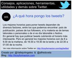 Twitter 005 - ¿A qué hora pongo los tweets? #infografia