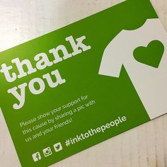 Ink to the People Thank You Card