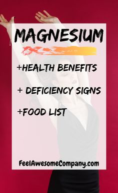 Magnesium health benefits and more! Magnesium is an essential mineral for good health and wellness. In this article you'll learn about the health benefits of magnesium, as well as some magnesium rich foods and magnesium deficiency symptoms. Discover the benefits of magnesium here! #magnesium #magnesiumbenefits #health #wellness #magnesiumdeficiency