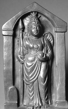 Brigantia , goddess of the Brigantes Celtic Goddess, Celtic Mythology, Roman Era, Celtic Culture, Tutankhamun, Beltane, Gods And Goddesses, Nymph, Deities