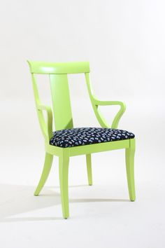 Vintage Green Yellow Painted Wooden Chair by JessicaAllynDesigns, $250.00