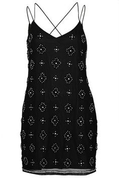 Beaded Strappy Slip Dress