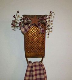 Old grater turned Towel rack!