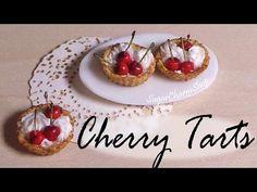 Miniature Fruit/Cherry Tarts - Polymer Clay Tutorial - YouTube