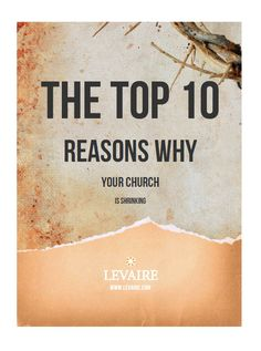 Free Whitepaper: Top 10 Reasons Why Your Church is Shrinking Few people will disagree attendance in many churches in America is on the decline. Even the number of Americans claiming they are religious is falling. Why? Chapters include: 01. The Pastor Lacks Vision 02. What's Your Code? 03. Hypocrisy and Prejudice 04. Weak Welcomes 05. …