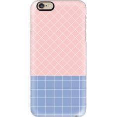 iPhone 6 Plus/6/5/5s/5c Case - PANTONE: GRID ROSE QUARTZ WITH SERENITY Rose Quartz Serenity, 5c Case, Year 2016, Color Of The Year, Pantone Color, Iphone 6, Grid, Phone Cases, Colour