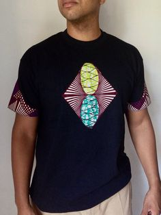 Items similar to Front Patch African Print Tshirt African Print Fashion, Africa Fashion, Fashion Prints, Ankara Fashion, African Textiles, African Fabric, African Attire, African Dress, African Design