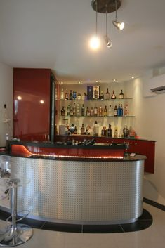 Futuristic, organic Bar at the Bubble House by Birchall & Partners Architects. Architects Ipswich   Architects Brisbane   Architects Gold Coast Kitchen And Kitchenette, Brisbane Architects, Bubble House, Gold Coast, Futuristic, Liquor Cabinet, Kitchen Design, Bubbles, Organic