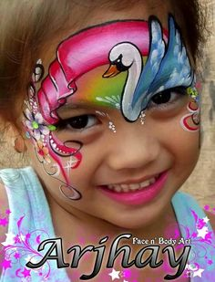 Swan ribbon facepaint by Arjhay