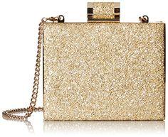 Halston Heritage Box Minaudiere Evening Bag in Gold - http://www.womansindex.com/halston-heritage-box-minaudiere-evening-bag-in-gold/