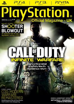 Official #PlayStation #Magazine 124. Call of Duty - Infinite Warefare. -Shooter Blowout - an explosive look at every big blaster coming in 2016.