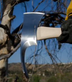 The Pulaski is a special hand tool used in wildland firefighting and trail building. The tool combines an axe and an adz in one head, similar to that of the cutter mattock, with a rigid handle of wood. The Pulaski is a versatile tool for constructing firebreaks, as it can be used to both dig soil and chop wood.