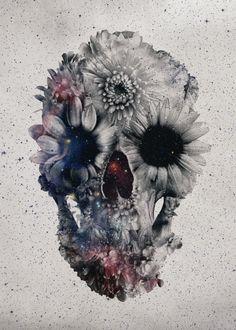 Ali Gulec - Floral Skull 2