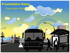 Check out our professionally designed and world class industrial make a great looking ppt presentation quickly and affordably with our professional public transportation bus station powerpoint template toneelgroepblik Choice Image