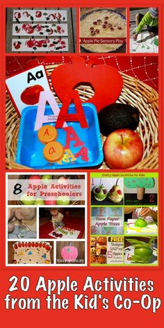 The Good Long Road: {Kid's Co-Op} A is for Apple - Getting Ready for Fall with The Kid's Co-Op