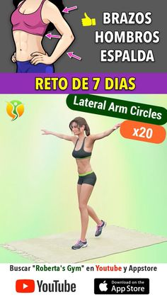 Fitness Workout For Women, Yoga Fitness, Health Fitness, Body Weight, Weight Loss, Gym Tips, Back Exercises, Shoulder Workout, Workout Videos
