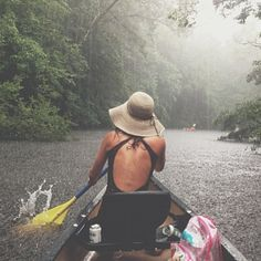 Canoe or kayak in a soft rain. Adventure Awaits, Adventure Travel, Into The Wild, All Nature, Adventure Is Out There, Plein Air, Go Outside, Oh The Places You'll Go, The Great Outdoors