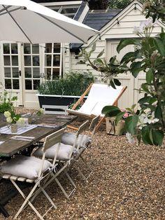 Roses and Rolltops : Al Fresco Living // With the White Company {Part Three - Garden Decor} Outdoor Chairs, Outdoor Furniture, Outdoor Decor, Organic Gardening Magazine, Seaside Garden, Garden Quotes, The White Company, Folding Chair, Garden Beds