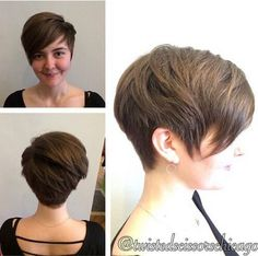 Everyday Hairstyles Ideas for Short Hair - I like the back of this one...