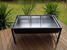 Stylish Fire Pit 45 Gallon Drum - camping, parties etc Fire Pit Furniture, Garden Furniture, Furniture Ideas, Metal Furniture, 45 Gallon Drum, Barrel Fire Pit, Fire Pit Gallery, Fire Pit Essentials, Oil Barrel