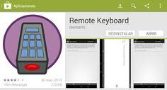 Remote Keyboard, escribe en tu dispositivo Android con el teclado del PC http://www.genbeta.com/p/95213