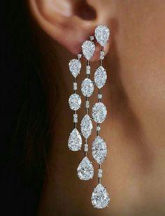 GABRIELLE'S AMAZING FANTASY CLOSET | Diamond Cascade Earrings #DiamondEarrings #DiamondJewelry