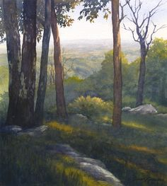 High Knob Evening, 14 x 13, watercolor, painted at Easels in Frederick, Frederick, MD.  Image Copyright Susan Lynn, 2014.