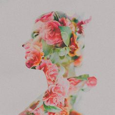 Multiple Exposure Floral Photography - These Double Exposure Photos by Sarah Byrne are Beautiful (GALLERY) Portraits En Double Exposition, Exposition Multiple, Double Exposure Tutorial, Double Exposure Photography, Colossal Art, Multiple Exposure, Photocollage, Photoshop, Lightroom