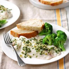 Lemon-Parsley Tilapia Recipe -I like to include seafood in our weekly dinner rotation but don't want to bother with anything complicated (and it had better taste good or the family will riot). This herbed fish does the trick. Tilapia Recipes, Fish Recipes, Seafood Recipes, Seafood Dishes, Fish Dishes, Main Dishes, Healthy Dinner Options, Healthy Dinner Recipes, Healthy Dinners