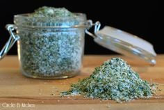 Tuscan HerbSalt - This is a classic herb salt used in Northern Italy.  It is good on just about anything. Use it as an essential seasoning for roasts of all kinds, but it's also great on vegetables, beans, popcorn, potatoes, bread or eggs.