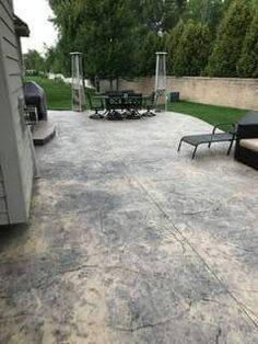 beautiful example of a bonnici concrete textured stamp patio call