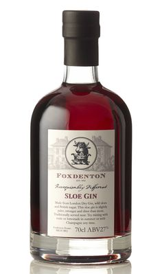 Foxdenton Estates Sloe Gin. A winner for the Spring and Summer when you can mix it with some fizz for a 'Sloe Royale'