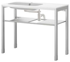GRUNDTAL/NORRVIKEN Sink with leg frame modern bathroom vanities and sink consoles