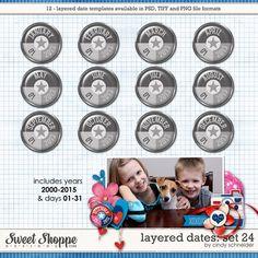 Cindy's Layered Dates: Set 24 by Cindy Schneider