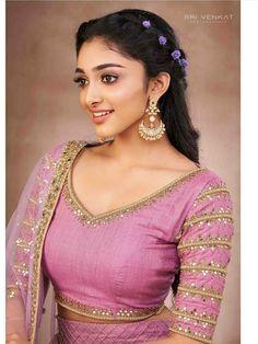 Crop Top Set, Pink Crop Top, Salwar Designs, Saree Blouse Designs, Knife Pleated Skirt, Lavender Shirt, Green Lehenga, Gold Skirt, Embellished Skirt
