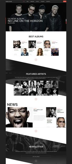 Sexy one-page Website with creative design - #webdesign #theme #template…