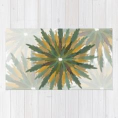 Leafy Wreaths Rug by weivy Pattern Flower, Face Towel, Presents For Friends, Good Cause, Wooden Shelves, Hand Towels, Tapestry, Wreaths, Throw Pillows