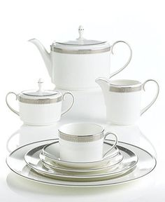 Vera Wang Wedgwood Dinnerware, Lace Collection - Fine China - Dining & Entertaining - Macy's