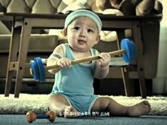 Cute Korean baby. powdered milk commercial.