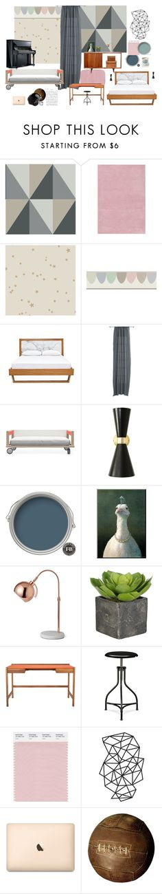 """""""bedroom+girl/boy room"""" by artforma on Polyvore featuring interior, interiors, interior design, дом, home decor, interior decorating, Cole & Son, CB2, Kay + Stemmer и Rawlings"""