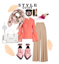 """Another Hijab style"" by xparamicasx on Polyvore featuring The Row, Roksanda, Valentino, Marques'Almeida, Balenciaga, DKNY, Gucci, Edward Bess, hijabstyle and polyvoreset"