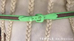 Beautiful leather and horsehair belt designed by Temple de Mexico. Available at GLLAM