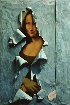 Mona Lisa: La Déchirure (The Tear) by Henri Cadiou Le Sourire De Mona Lisa, Lisa Gherardini, Portrait, La Madone, Mona Lisa Parody, Mona Lisa Smile, Museum, Italian Artist, Many Faces