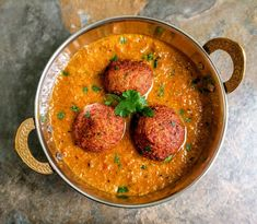 Veg Kofta Curry is an Indian gravy dish made from Mixed Vegetable dumplings cooked in a creamy onion-tomato based gravy.